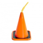 Construction Cone Molded Cup (4): Orange, Birthday
