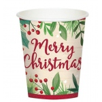 BuySeasons Holiday 9oz Paper Cups (8)