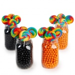 BuySeasons Orange & Black Mason Jar Candy Décor Kit