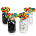 BuySeasons Black & White Mason Jar Candy Décor Kit