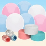 BuySeasons Light Blue, White and Pink Decorating Kit