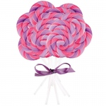 Pink and Purple Swirl Lollipops (96): Purple, Birthday