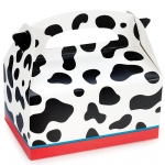 Cow Print Empty Favor Boxes - Black/White/Red