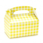 Empty Yellow Gingham Favor Boxes -
