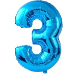 Birthday Express #3 Blue Foil Balloon Blue