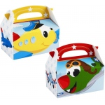 Airplane Adventure Empty Favor Boxes - Blue/Red/Yellow