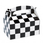 Black and White Check Empty Favor Box (stock): Black & White, Birthday