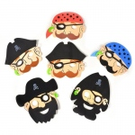 Foam Pirate Mask (stock): Various - color may vary, Birthday