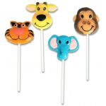 Zoo Animal Lollipop (stock): Various - color may vary, Birthday
