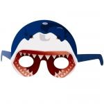 Shark Head Paper Masks (stock): Blue, Birthday
