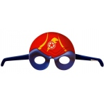 Superhero Comics Mask (stock): Blue/Red/Yellow, Birthday
