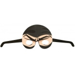 Ninja Warrior Party Paper Masks (stock): Black & Tan, Birthday