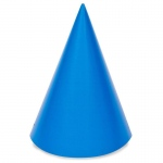 Blue Cone Party Hats (stock): Blue, Birthday