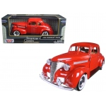 1939 Chevrolet Coupe Red 1/24 Diecast Model Car by Motormax