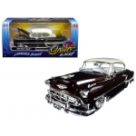 "1953 Chevrolet Bel Air Brown ""Lowrider Series"" Street Low 1/24 Diecast Model Car by Jada"