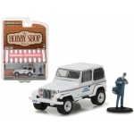 "1991 Jeep Wrangler YJ USPS with USPS Mail Carrier ""The Hobby Shop"" Series 1 1/64 Diecast Model Car by Greenlight"