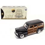 1948 Ford Woody Black 1/18 Diecast Model Car by Road Signature