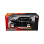 "1939 Chevrolet Master Deluxe Black with baby Moon Wheels ""Showroom Floor"" 1/24 Diecast Model Car by Jada"