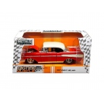 "1957 Chevrolet Bel Air Red ""Bigtime Muscle"" 1/24 Diecast Model Car by Jada"