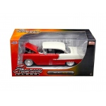 "1955 Chevrolet Bel Air Hard Top Red ""Showroom Floor"" 1/24 Diecast Model Car by Jada"