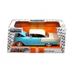 "1955 Chevrolet Bel Air Blue ""Bigtime Muscle"" 1/24 Diecast Model Car by Jada"