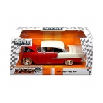 "1955 Chevrolet Bel Air Red ""Bigtime Muscle"" 1/24 Diecast Model Car by Jada"