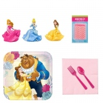 Birthday Express Beauty & the Beast Tableware and Cake Topper Kit