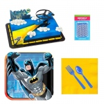 Birthday Express Batman Tableware and Cake Topper Kit