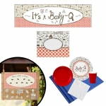 Birthday Express Baby-Q Gender Reveal All Inclusive Party Kit
