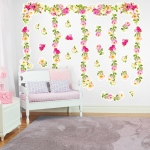 Birthday Express Garden Flowers Giant Wall Decal