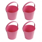 Birthday Express Pink Metal Buckets (4) Pink