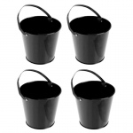 BuySeasons Black Metal Buckets (4)