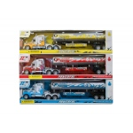 Friction Powered Oil Tank Truck: assorted colors