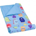 Wildkin Olive Kids Monsters Microfiber Sleeping Bag