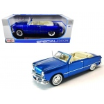 1949 Ford Convertible Metallic Blue 1/18 Diecast Model Car by Maisto