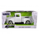 "1956 Ford F-100 Pickup Truck White ""Just Trucks"" 1/24 Diecast Model Car by Jada"