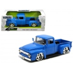 "1956 Ford F-100 Pickup Truck Blue ""Just Trucks"" 1/24 Diecast Model Car by Jada"