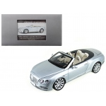 2016 Bentley Continental GT Convertible LHD Silver Frost 1/18 Diecast Model Car by Paragon