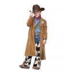 Cowboy Duster Jacket Child Costume - Small (4-6):Small (4-6)