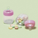 Baby Bottle Favor Containers Pink (6)