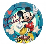 Disney Mickey Mouse Clubhouse Singing Foil Balloon: Aqua, Birthday