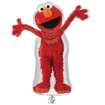 "Elmo Shaped 34"" Foil Balloon: Red, Birthday"