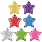 "Blue Star Crystalgraphic 20"" Foil Balloon (1)"