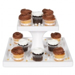 2 Tier Square Cupcake Stand: White, Birthday