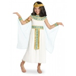 Cleopatra Child Costume: White, Large, Everyday, Female, Child
