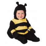 Baby Bumble Bee Infant Costume: Black/Yellow, 0-9 Months, Everyday, Unisex, Infant