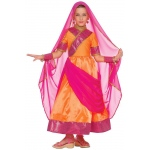 Bollywood Child Costume: Pink, Small, Everyday, Female, Child