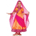 Bollywood Child Costume: Pink, Medium, Everyday, Female, Child