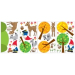 Birthday Express Woodland Gnome Removable Wall Decals: 1 Piece