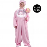 Be My Baby Jammies (Pink) Adult Plus Costume:Plus